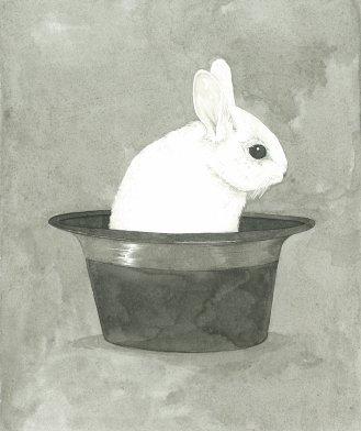 Conejo en sombrero