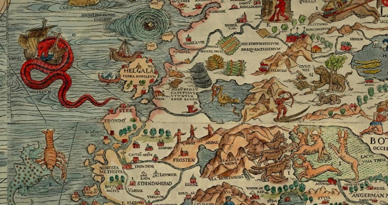 dragon en mapa