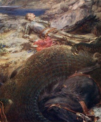 dragon St._George_and_the_Dragon_-_Briton_Riviere