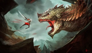 Dragon-Warrior-Fighting-Sword-Weapon-Fantasy-HD-Wallpaper