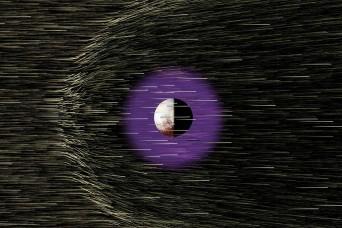 Plutón viento solar